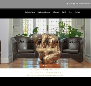centrelaser.fr-site web vitrine d'un chirurgien esthétique